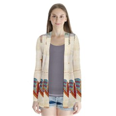 Egyptian Tutunkhamun Pharaoh Design Drape Collar Cardigan