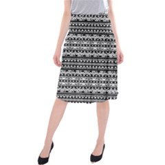 Zentangle Lines Pattern Midi Beach Skirt