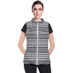 Zentangle Lines Pattern Women s Puffer Vest