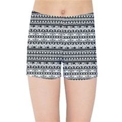 Zentangle Lines Pattern Kids Sports Shorts
