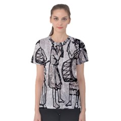 Man Ethic African People Collage Women s Cotton Tee