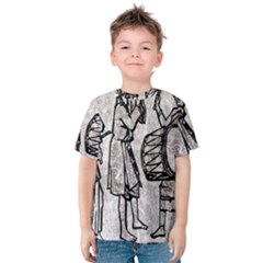 Man Ethic African People Collage Kids  Cotton Tee