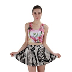 Man Ethic African People Collage Mini Skirt