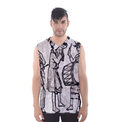 Man Ethic African People Collage Men s Basketball Tank Top