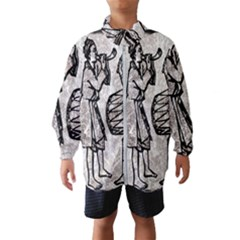 Man Ethic African People Collage Wind Breaker (kids)