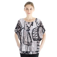Man Ethic African People Collage Blouse