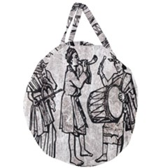 Man Ethic African People Collage Giant Round Zipper Tote