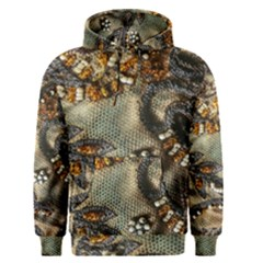 Texture Textile Beads Beading Men s Pullover Hoodie