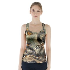 Texture Textile Beads Beading Racer Back Sports Top