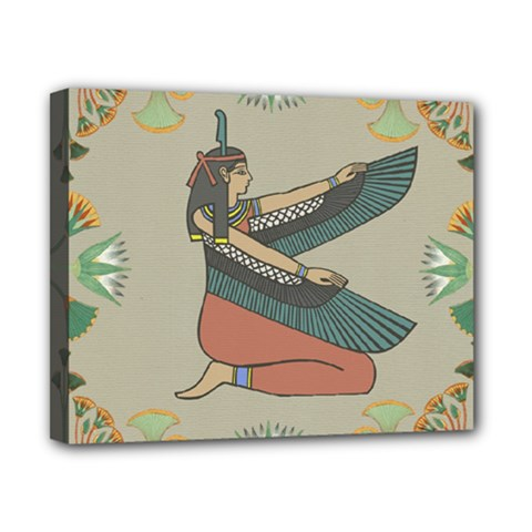 Egyptian Woman Wings Design Canvas 10  X 8