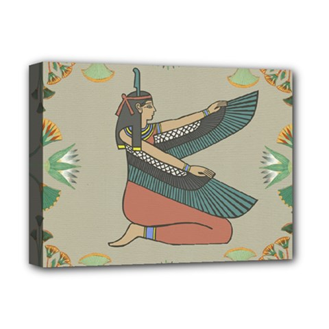 Egyptian Woman Wings Design Deluxe Canvas 16  X 12