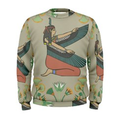 Egyptian Woman Wings Design Men s Sweatshirt