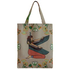 Egyptian Woman Wings Design Zipper Classic Tote Bag