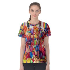 Guatemala Art Painting Naive Women s Cotton Tee