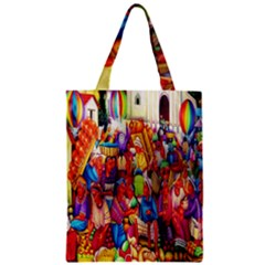 Guatemala Art Painting Naive Zipper Classic Tote Bag
