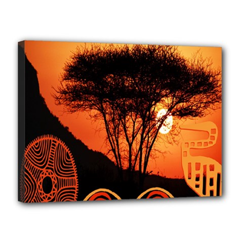 Africa Safari Summer Sun Nature Canvas 16  X 12
