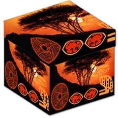 Africa Safari Summer Sun Nature Storage Stool 12