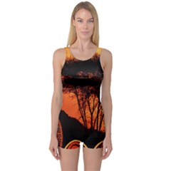 Africa Safari Summer Sun Nature One Piece Boyleg Swimsuit