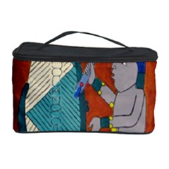Mexico Puebla Mural Ethnic Aztec Cosmetic Storage Case