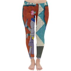 Mexico Puebla Mural Ethnic Aztec Classic Winter Leggings