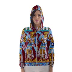 Mexico Puebla Mural Ethnic Aztec Hooded Wind Breaker (women)