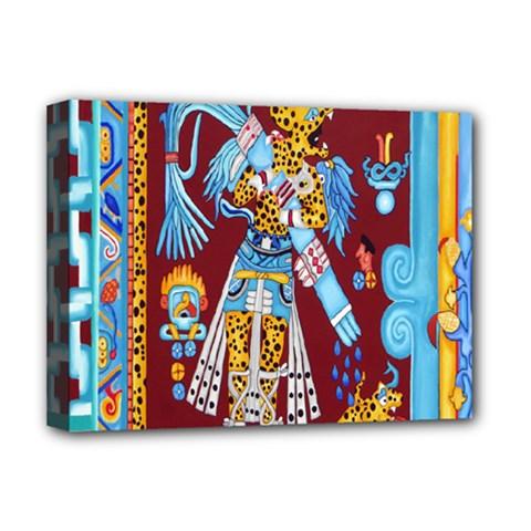 Mexico Puebla Mural Ethnic Aztec Deluxe Canvas 16  X 12