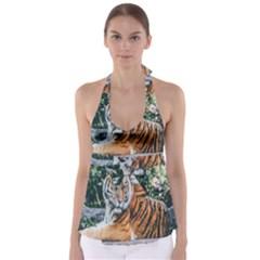 Animal Big Cat Safari Tiger Babydoll Tankini Top