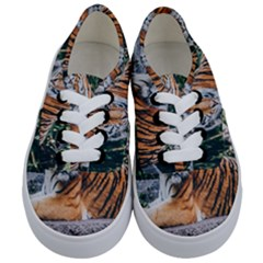 Animal Big Cat Safari Tiger Kids  Classic Low Top Sneakers