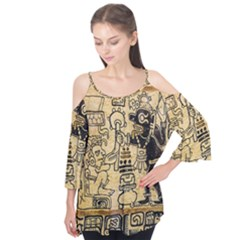 Mystery Pattern Pyramid Peru Aztec Font Art Drawing Illustration Design Text Mexico History Indian Flutter Tees