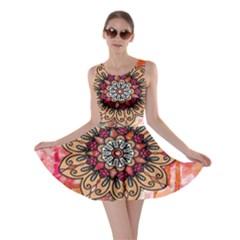 Mandala Art Design Pattern Ethnic Skater Dress