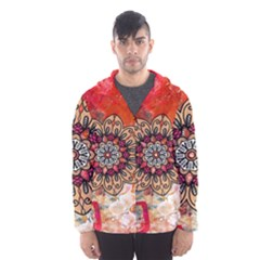 Mandala Art Design Pattern Ethnic Hooded Wind Breaker (men)