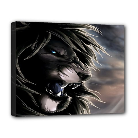 Angry Lion Digital Art Hd Deluxe Canvas 20  X 16