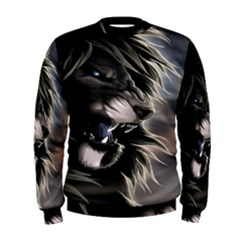 Angry Lion Digital Art Hd Men s Sweatshirt