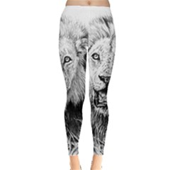 Lion Wildlife Art And Illustration Pencil Leggings