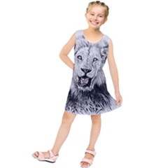 Lion Wildlife Art And Illustration Pencil Kids  Tunic Dress