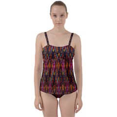 Thai Silk Twist Front Tankini Set