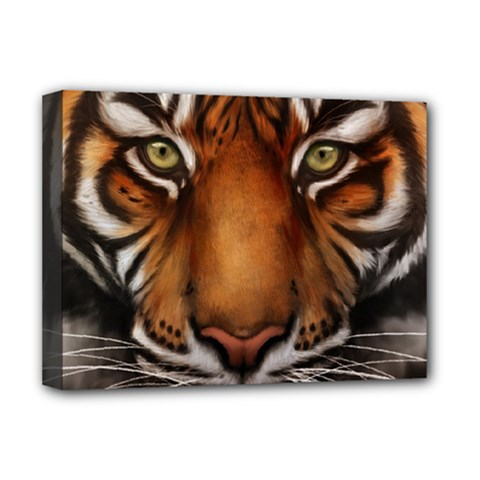 The Tiger Face Deluxe Canvas 16  X 12