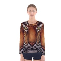 The Tiger Face Women s Long Sleeve Tee