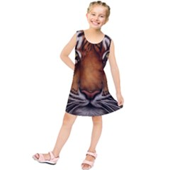 The Tiger Face Kids  Tunic Dress