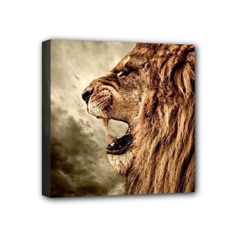 Roaring Lion Mini Canvas 4  X 4