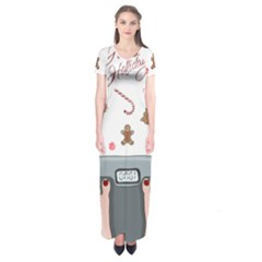 Hilarious Holidays  Short Sleeve Maxi Dress