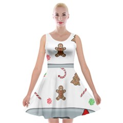 Hilarious Holidays  Velvet Skater Dress
