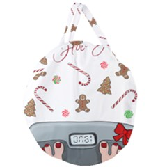 Hilarious Holidays  Giant Round Zipper Tote