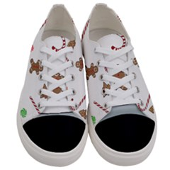 Hilarious Holidays  Women s Low Top Canvas Sneakers