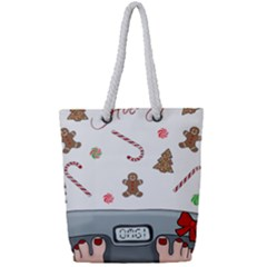 Hilarious Holidays  Full Print Rope Handle Bag (small)