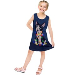 Meowy Christmas Kids  Tunic Dress
