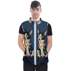 Meowy Christmas Men s Puffer Vest
