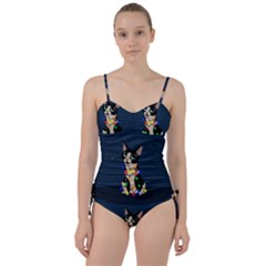 Meowy Christmas Sweetheart Tankini Set