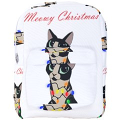 Meowy Christmas Full Print Backpack
