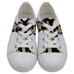 Meowy Christmas Kids  Low Top Canvas Sneakers